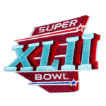 NFL Super Bowl XLII Embroidered Patches
